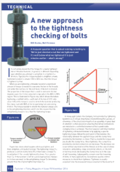 A new approach to the tightness checking of bolts