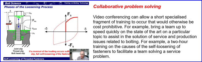 Training Course on Bolting Technology utilising video conferencing