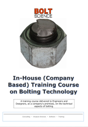 In Company Training Course on Bolting Technology Brochure